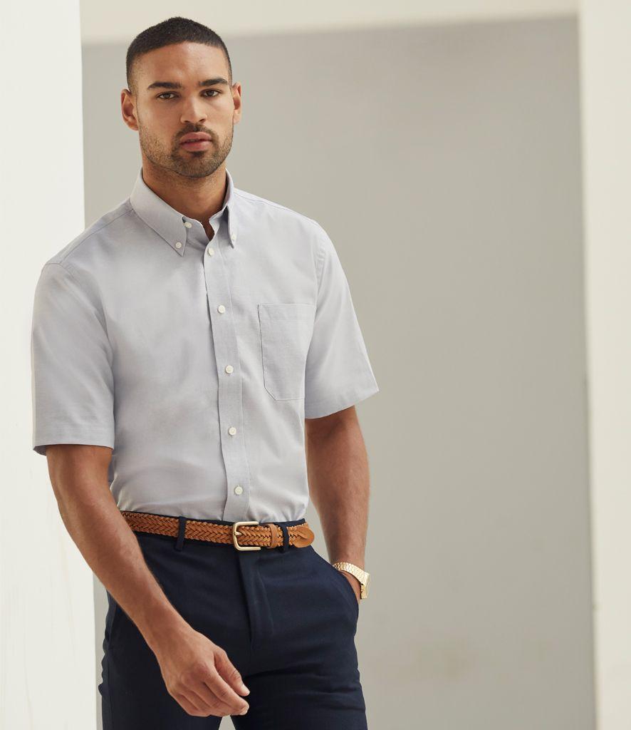 e747abcd ... Fruit of the Loom Short Sleeve Oxford Shirt. pencarrie ss401.jpg