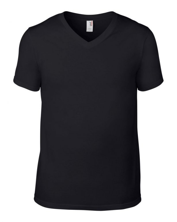 Image 1 of Anvil Lightweight V Neck T-Shirt