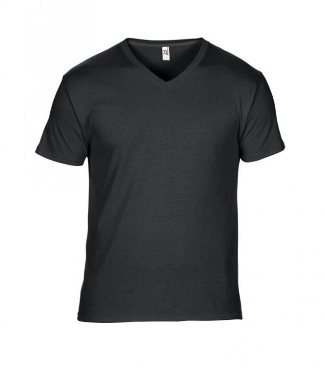 Image 1 of Anvil Featherweight V Neck T-Shirt