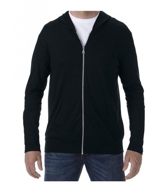 Image 1 of Anvil Tri-Blend Hooded Jacket