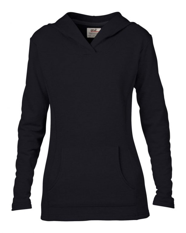 Image 1 of Anvil Ladies Crossneck Hooded Sweatshirt