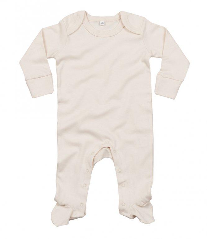 Image 1 of BabyBugz Baby Organic Sleepsuit with Mitts