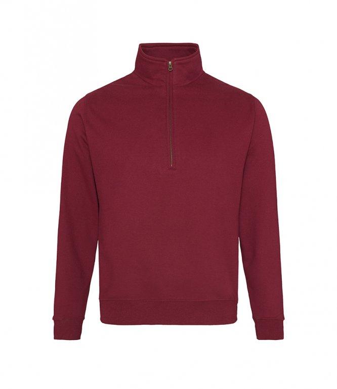 Image 1 of AWDis Sophomore Zip Neck Sweatshirt