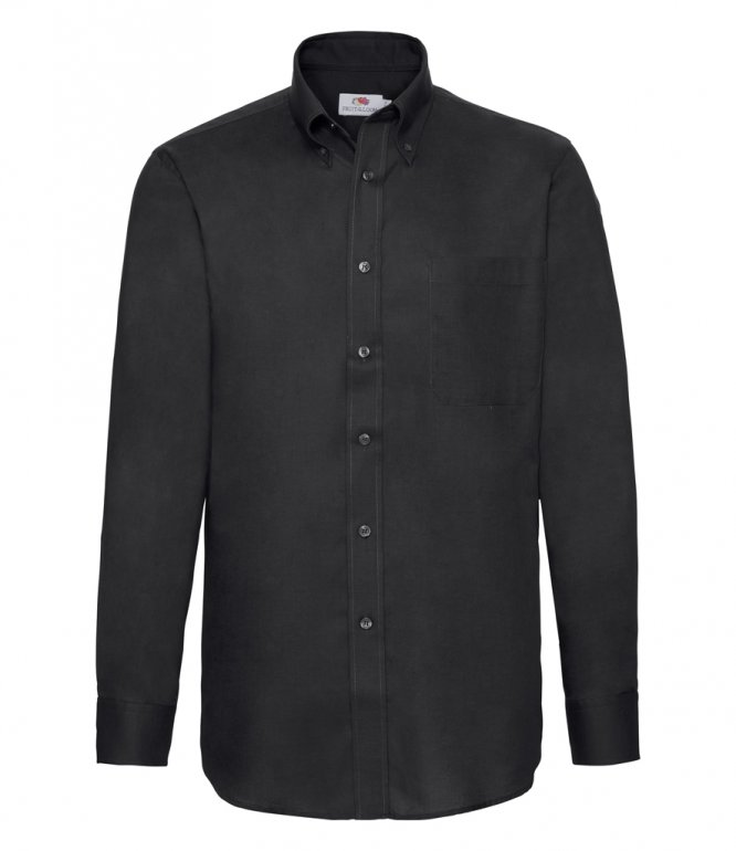 Image 1 of Fruit of the Loom Long Sleeve Oxford Shirt