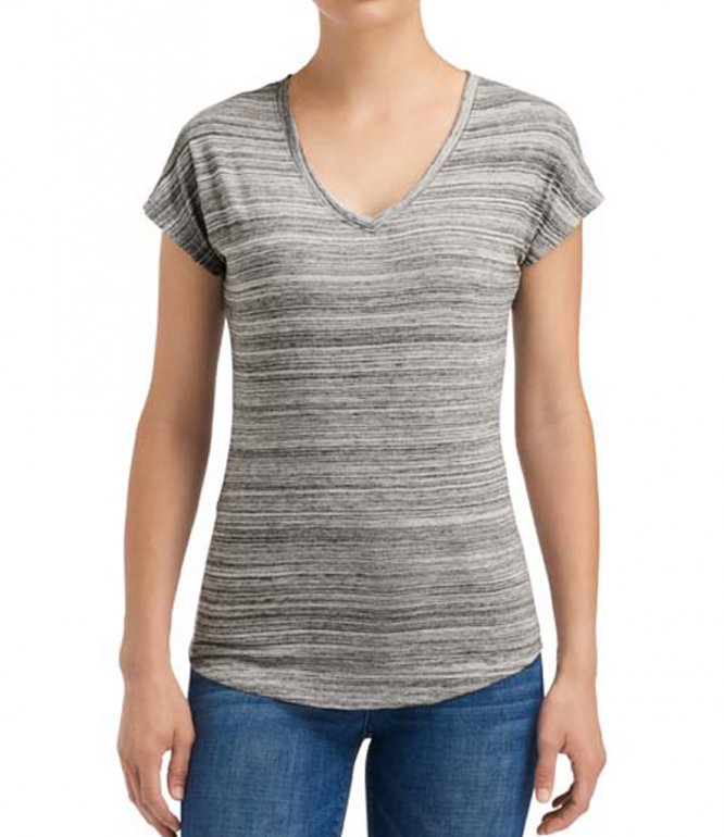 Image 1 of Anvil Ladies Streak V Neck T-Shirt