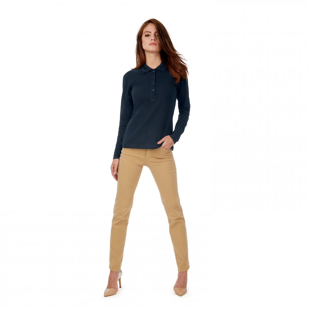 Image 1 of B&C Safran pure long sleeve /women