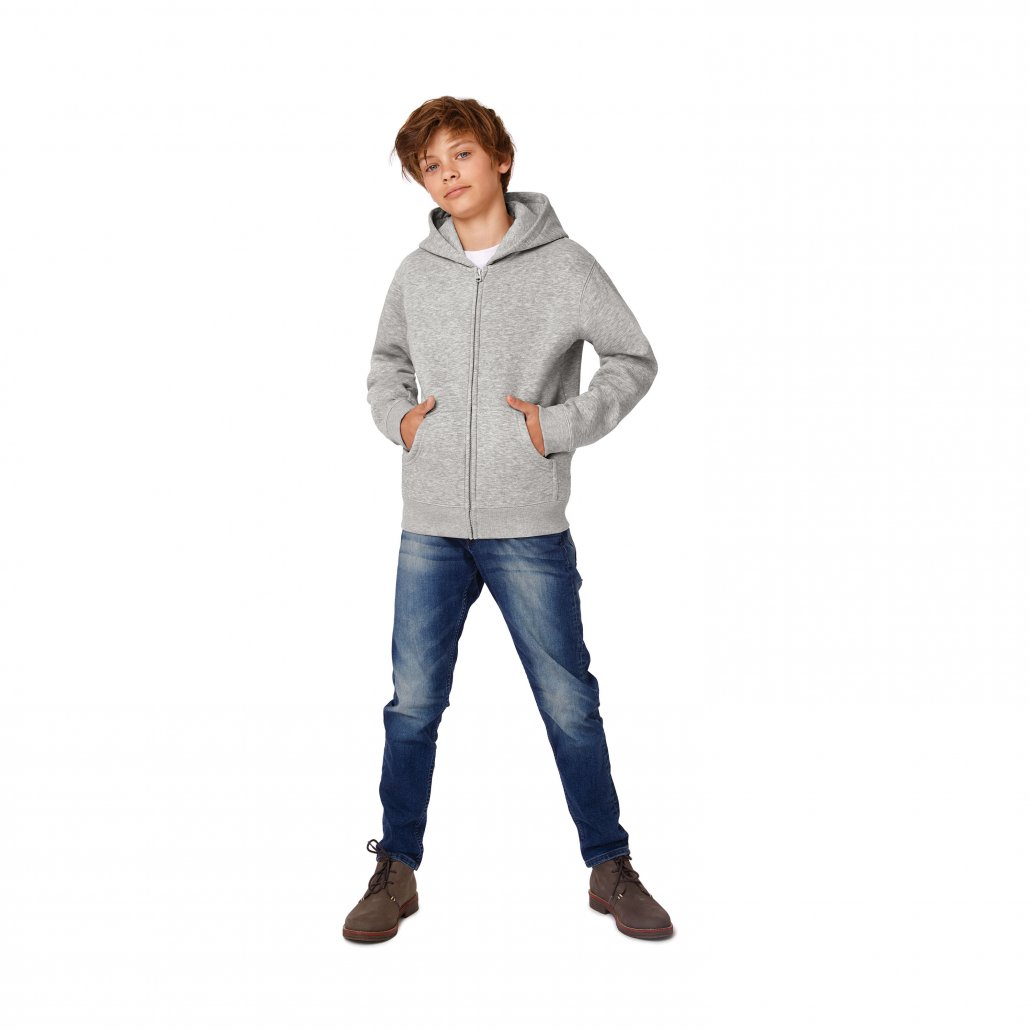 Image 1 of B&C Hooded full-zip /kids