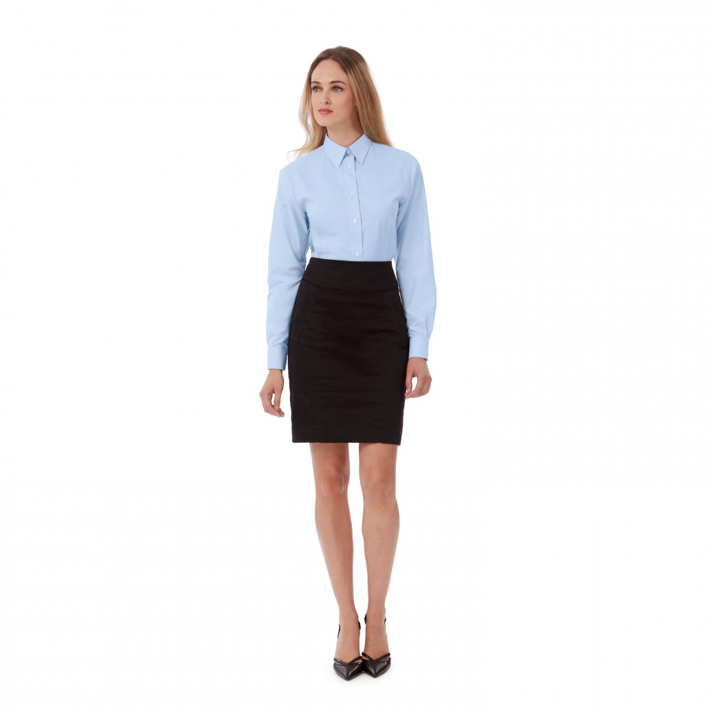 Image 1 of B&C Oxford long sleeve /women