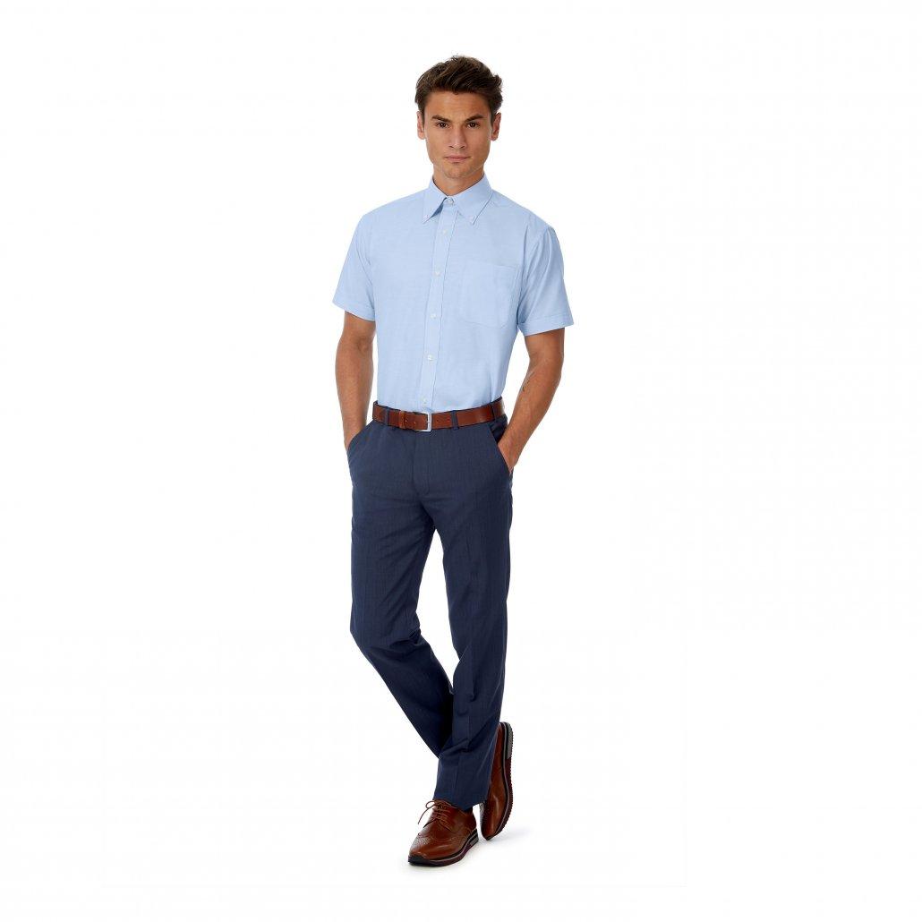 Image 1 of B&C Oxford short sleeve /men