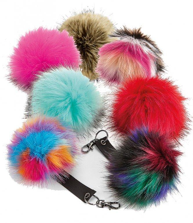 Image 1 of Beechfield Faux Fur Pop Pom Key Ring