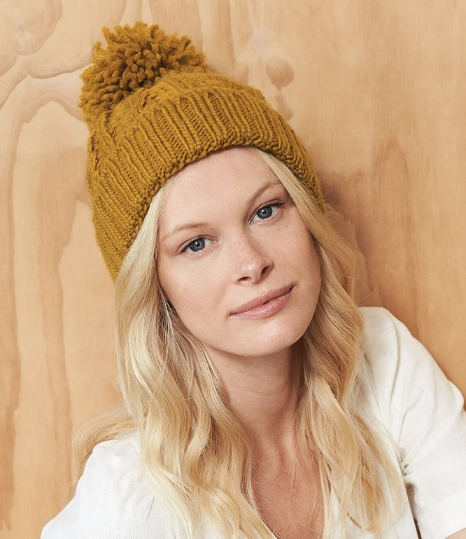 Image 1 of Beechfield Cable Knit Melange Beanie
