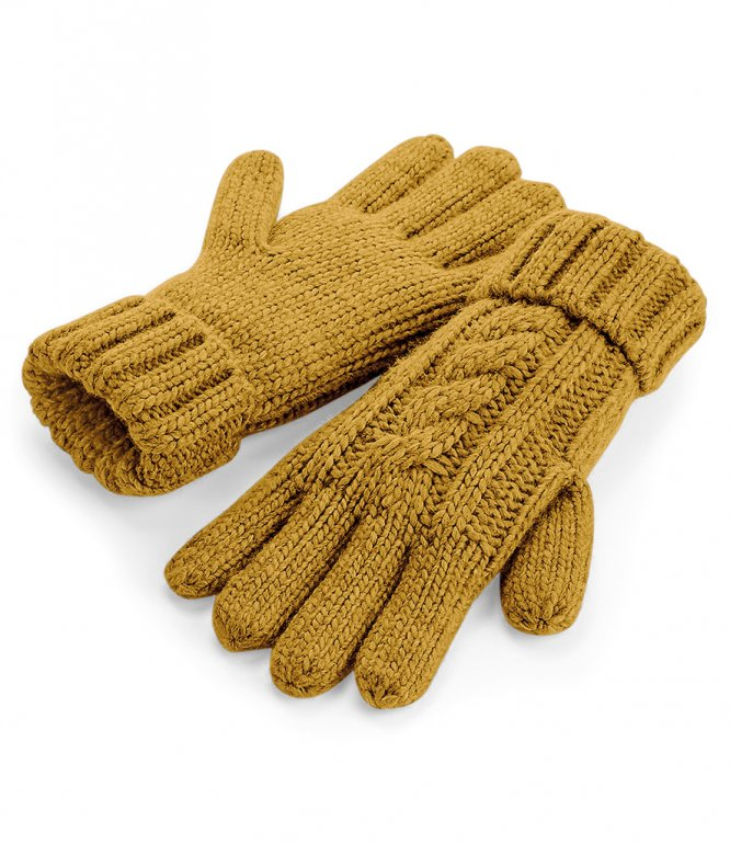 Image 1 of Beechfield Cable Knit Melange Gloves