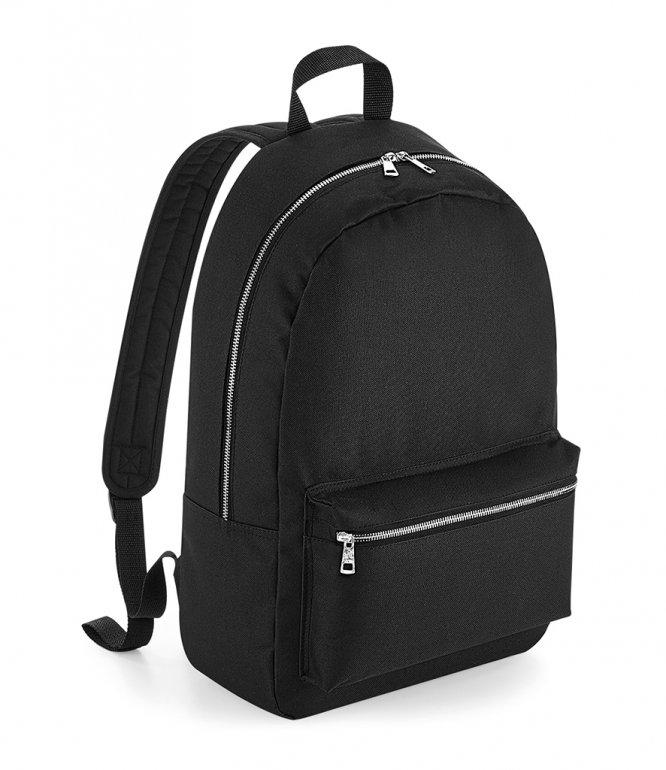Image 1 of BagBase Metallic Zip Backpack