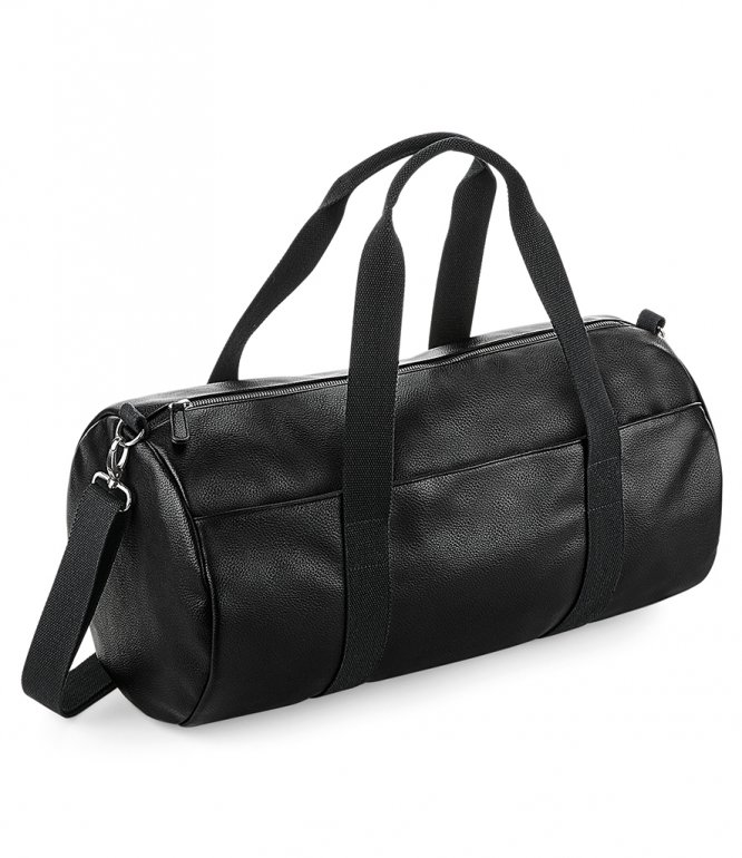 Image 1 of BagBase Faux Leather Barrel Bag
