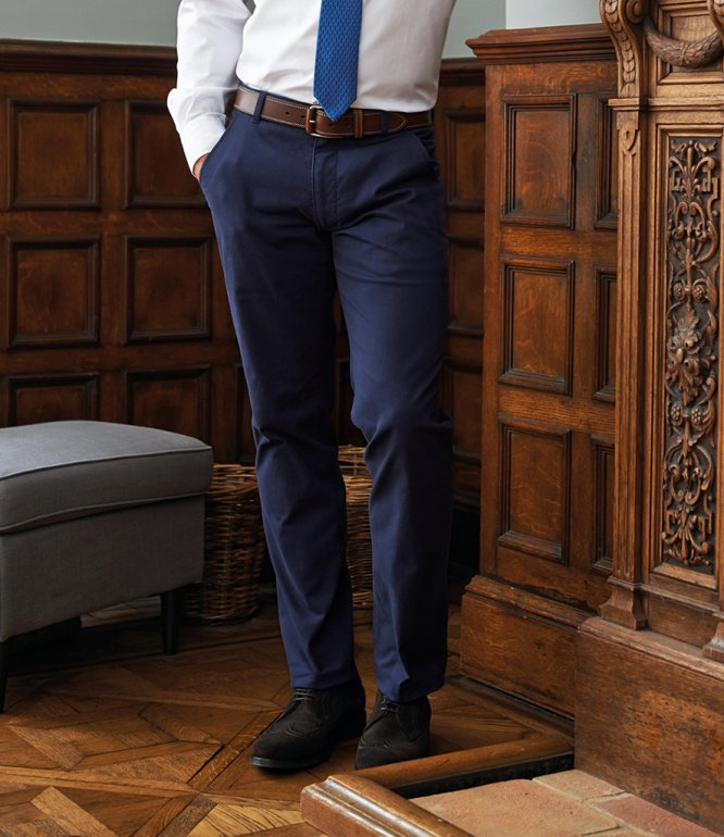 Image 1 of Brook Taverner Miami Slim Fit Chino Trousers