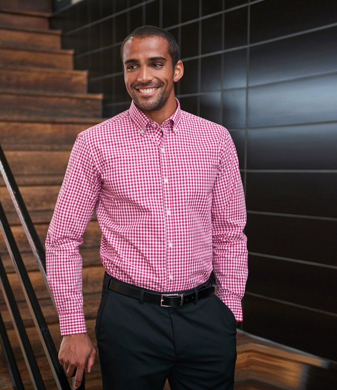 Image 1 of Brook Taverner Montana Gingham Long Sleeve Shirt