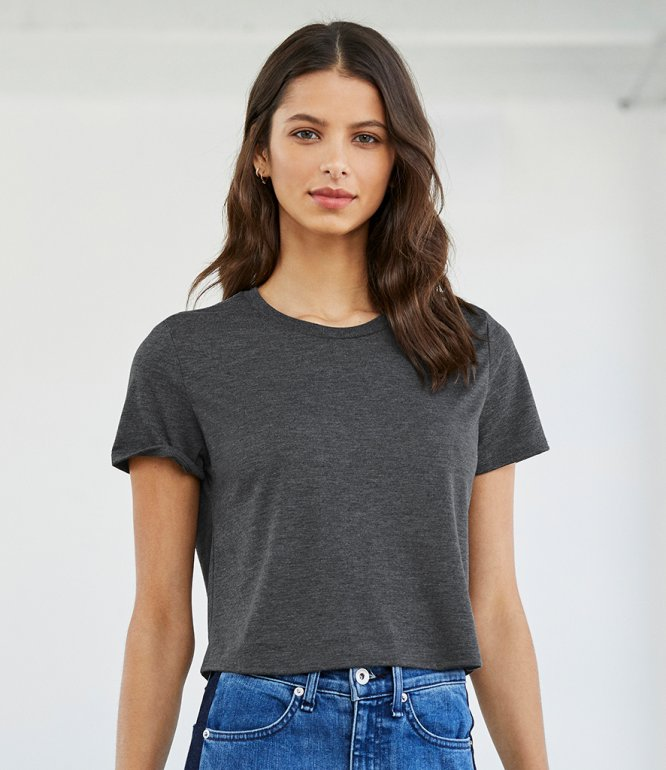 Image 1 of Bella Ladies Flowy Cropped T-Shirt