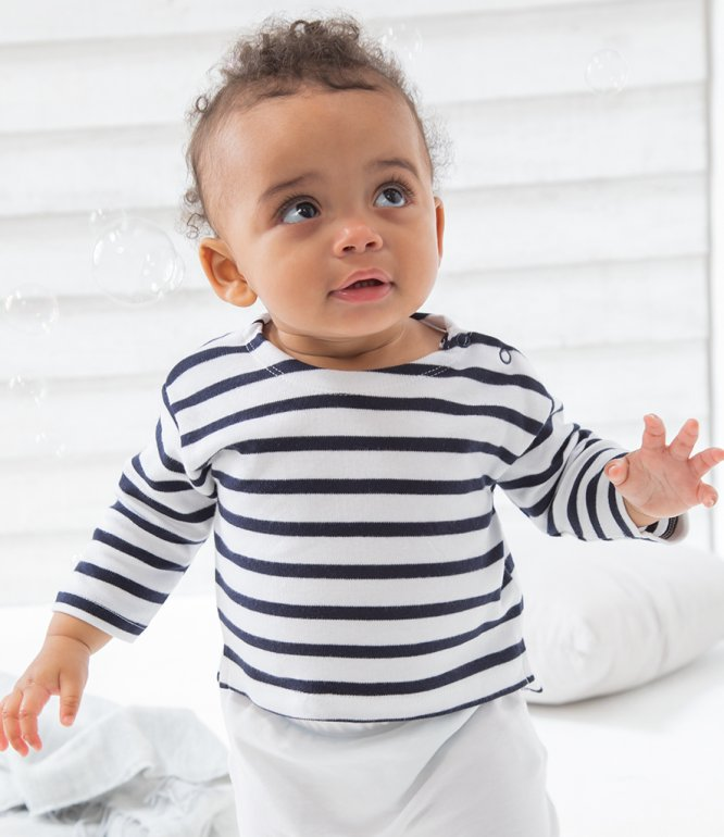 Image 1 of BabyBugz Baby Breton Long Sleeve T-Shirt