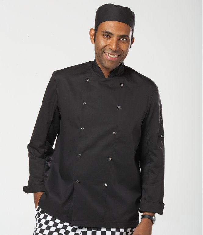 Image 1 of Dennys Long Sleeve Press Stud Chef's Jacket