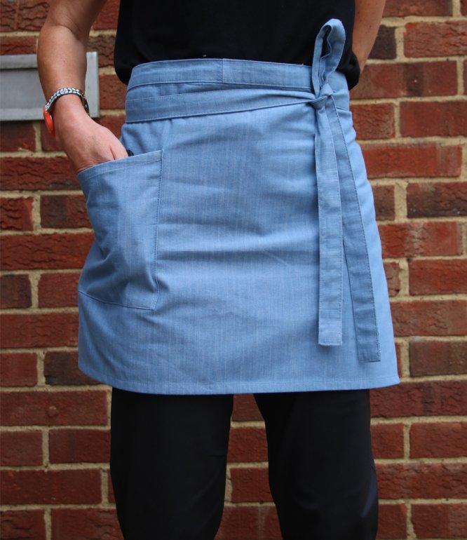 Image 1 of Dennys Cross Dyed Denim Waist Apron with Pocket