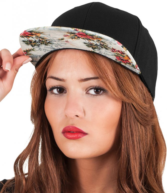 Image 1 of Flexfit Floral Snapback Cap
