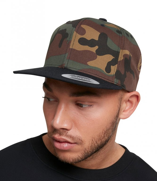 Image 1 of Flexfit Two Tone Classic Camo Snapback Cap