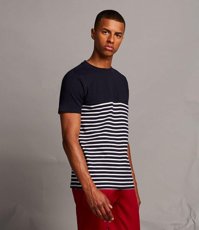 Image 1 of Front Row Breton Striped T-Shirt