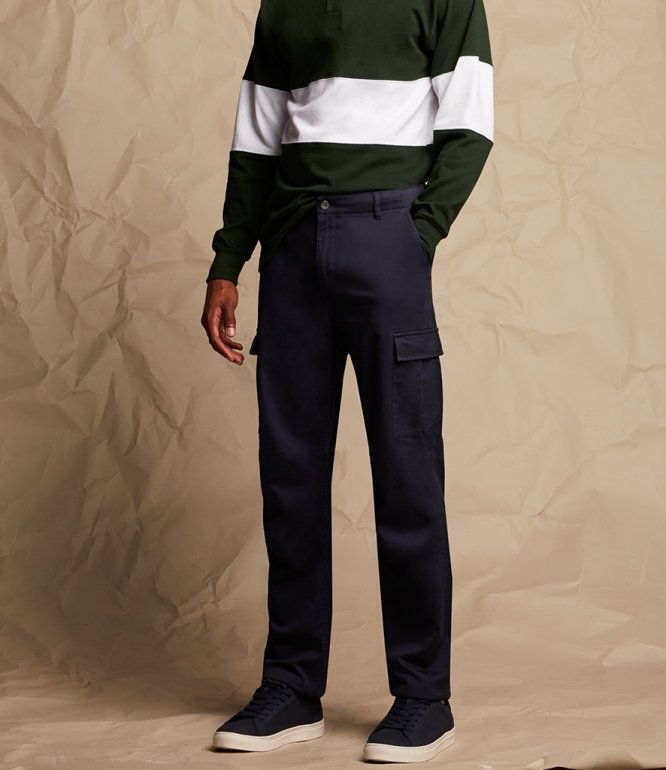 Image 1 of Front Row Stretch Cargo Trousers