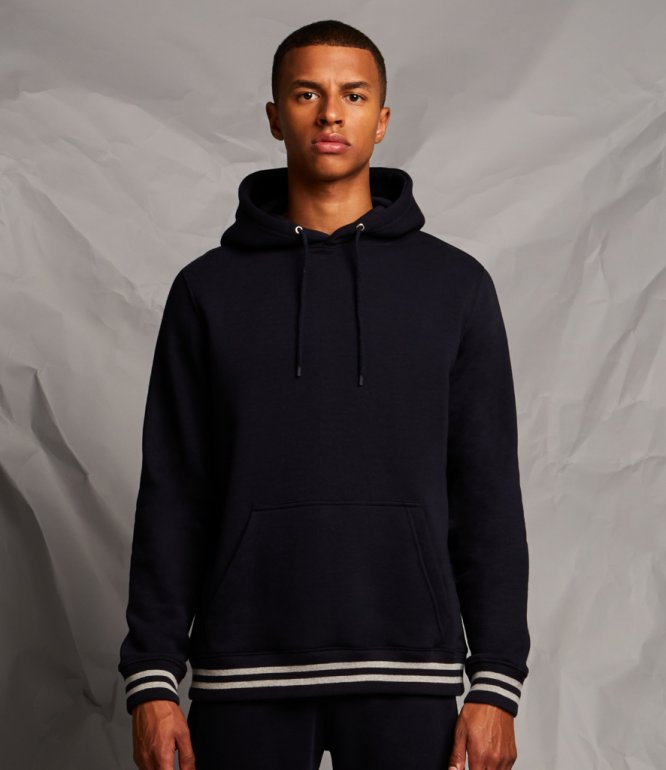 Image 1 of Front Row Unisex Striped Cuff Hoodie