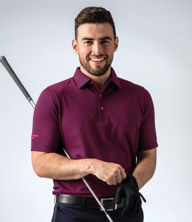 Image 1 of Glenmuir Micro Stripe Polo Shirt