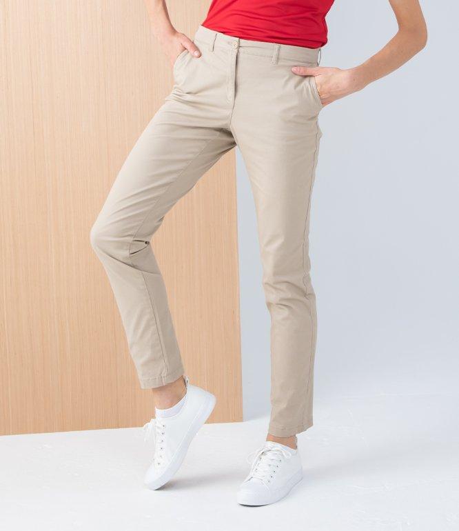 Image 1 of Henbury Ladies Stretch Chino Trousers