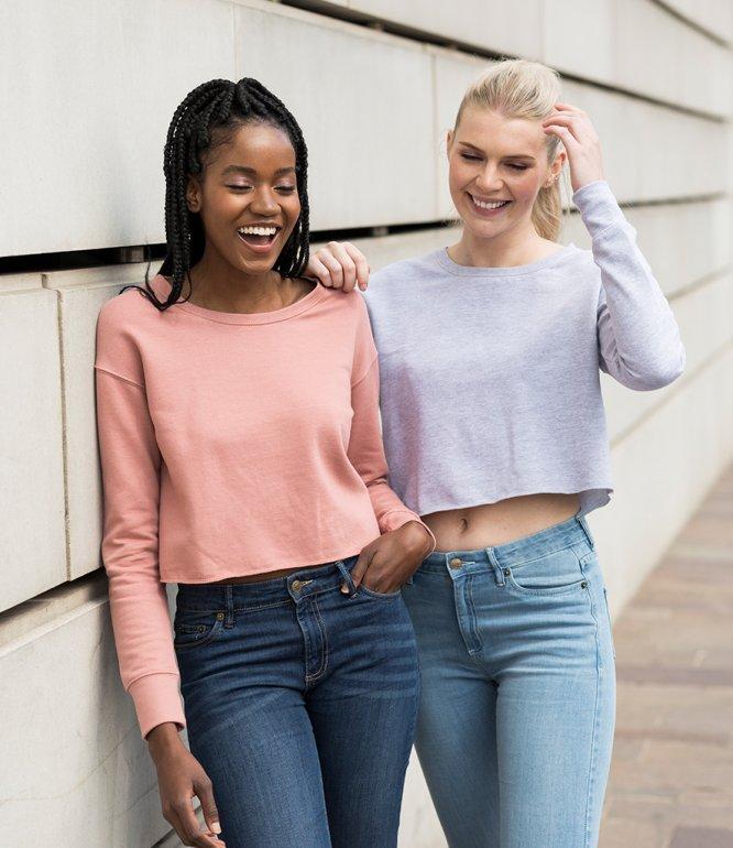 Image 1 of AWDis Girlie Cropped Sweatshirt