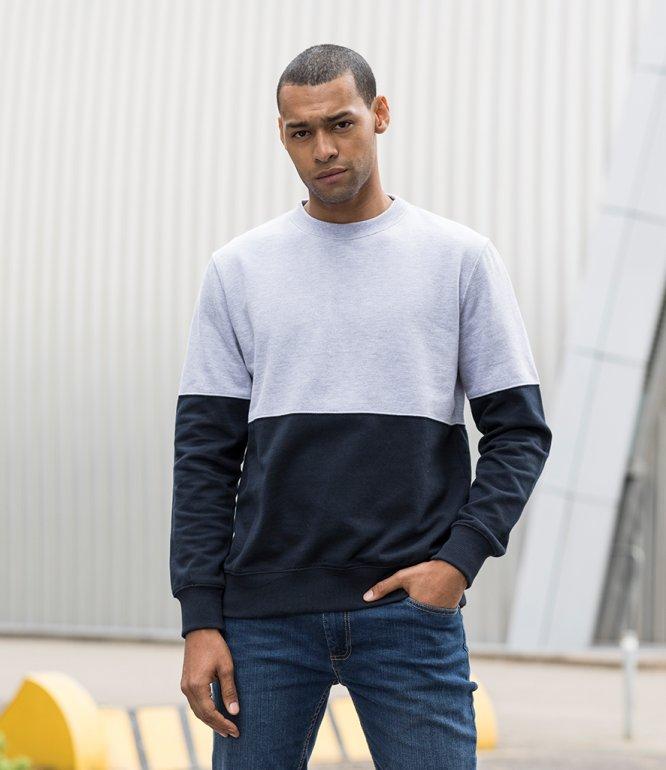 Image 1 of AWDis Colour Block Sweatshirt