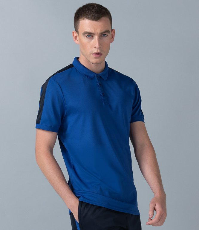 Image 1 of Finden and Hales Unisex Contrast Panel Piqué Polo Shirt