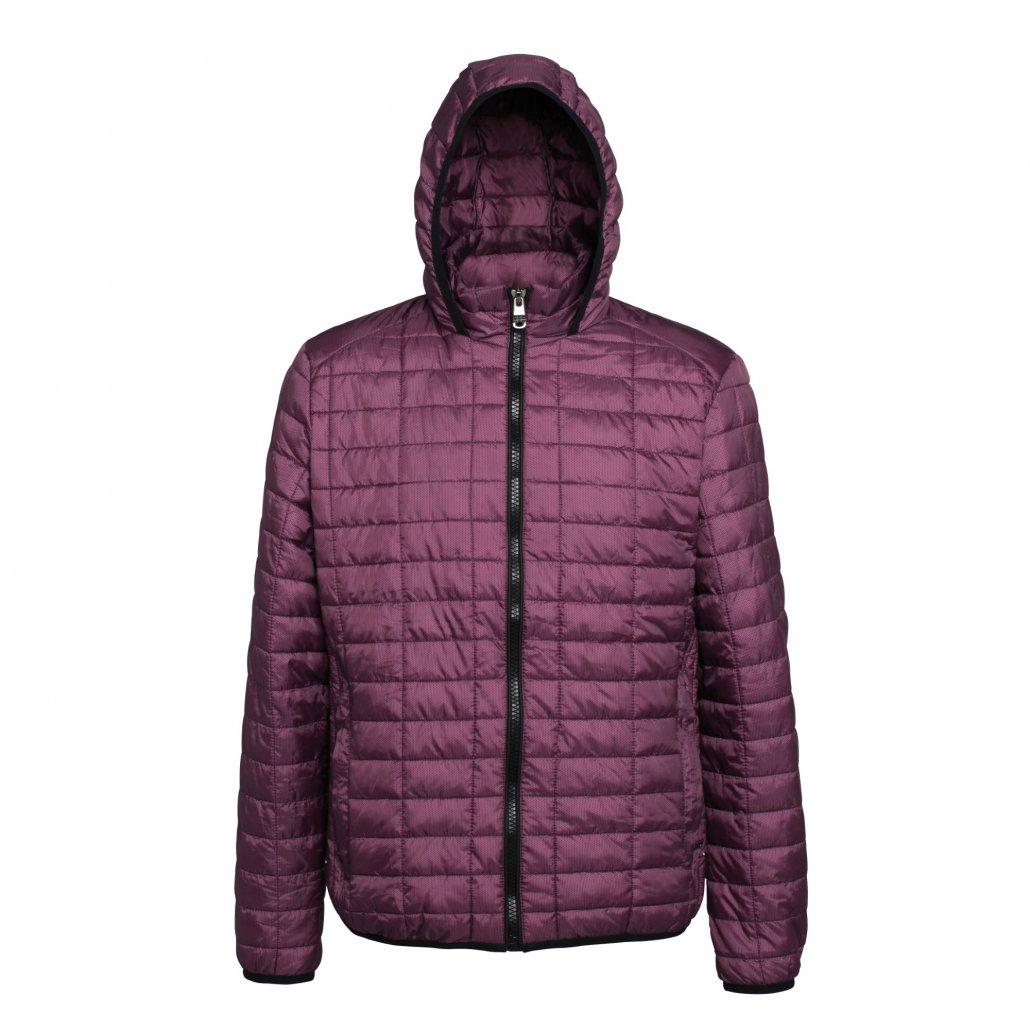 Image 1 of Honeycomb hooded jacket