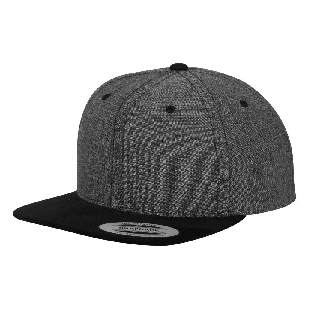 Image 1 of Chambray-suede snapback (6089CH)