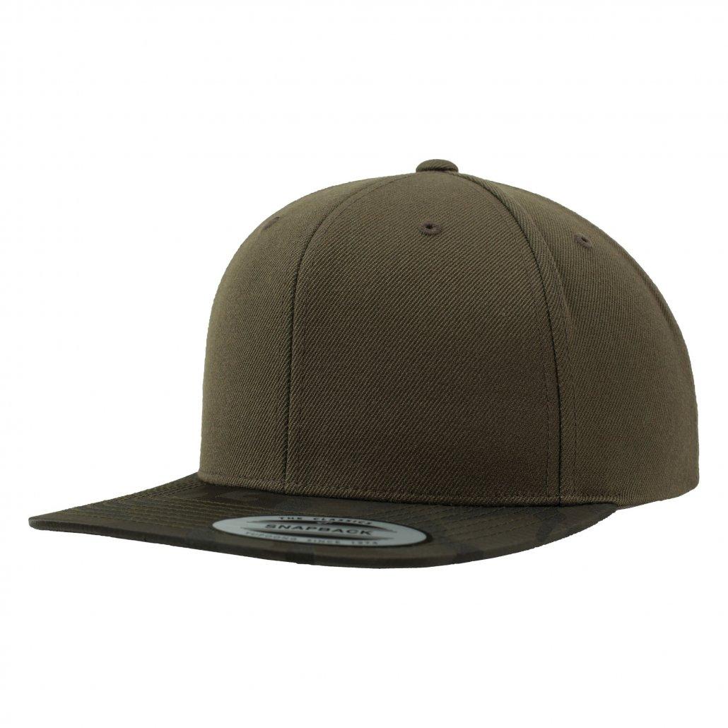 Image 1 of Camo visor snapback (6089CV)