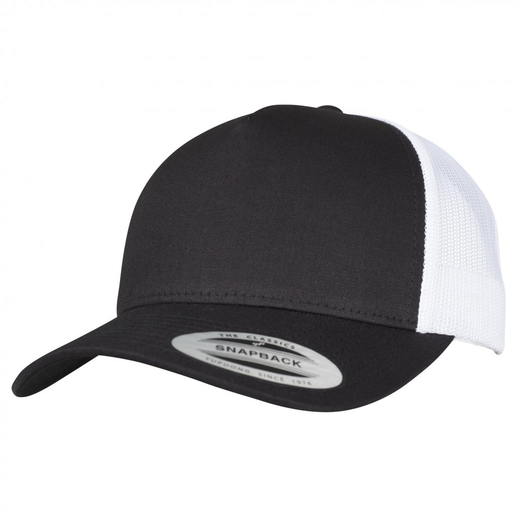 Image 1 of 5-panel retro trucker 2-tone cap (6506T)
