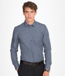 SOL'S Barnet Long Sleeve Heather Poplin Shirt image