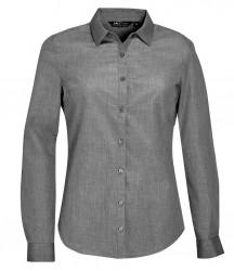 SOL'S Ladies Barnet Long Sleeve Heather Poplin Shirt image
