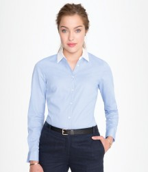 SOL'S Ladies Belmont Long Sleeve Contrast Poplin Shirt image