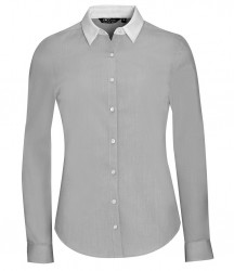 SOL'S Ladies Belmont Long Sleeve Contrast Poplin Shirt image
