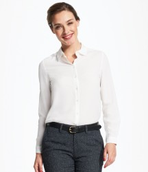 SOL'S Ladies Betty Long Sleeve Moss Crepe Shirt image