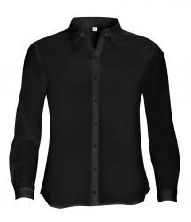 SOL'S Ladies Betty Long Sleeve Moss Crepe Shirt image