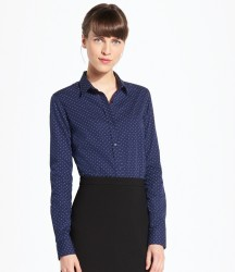 SOL'S Ladies Becker Polka Dot Long Sleeve Poplin Shirt image