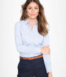 SOL'S Ladies Beverly Long Sleeve Striped Poplin Shirt image