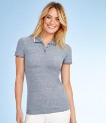 SOL'S Ladies Paname Heather Piqué Polo Shirt image