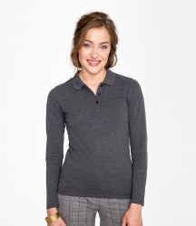 SOL'S Ladies Perfect Long Sleeve Piqué Polo Shirt image