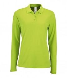 SOL'S Ladies Perfect Long Sleeve Piqué Polo Shirt image