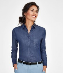 SOL'S Ladies Barry Long Sleeve Denim Shirt image